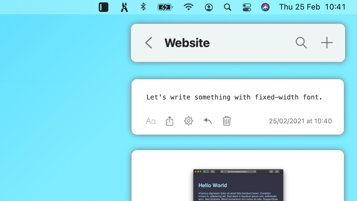 How to Make Notes with Fixed-Width Font?