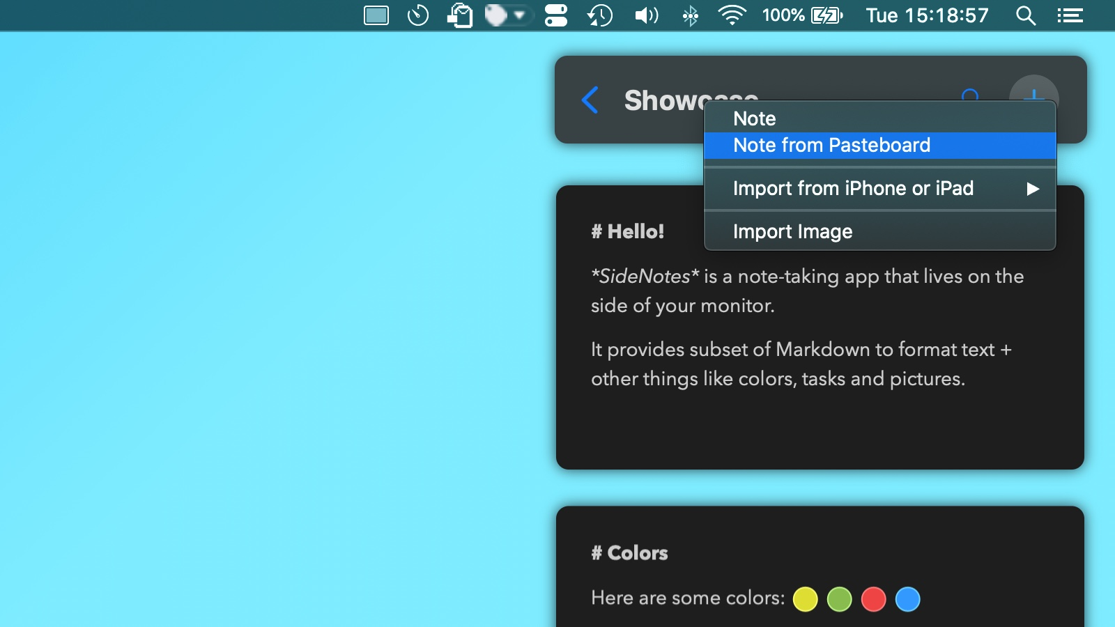 How to Add a Note From Pasteboard?