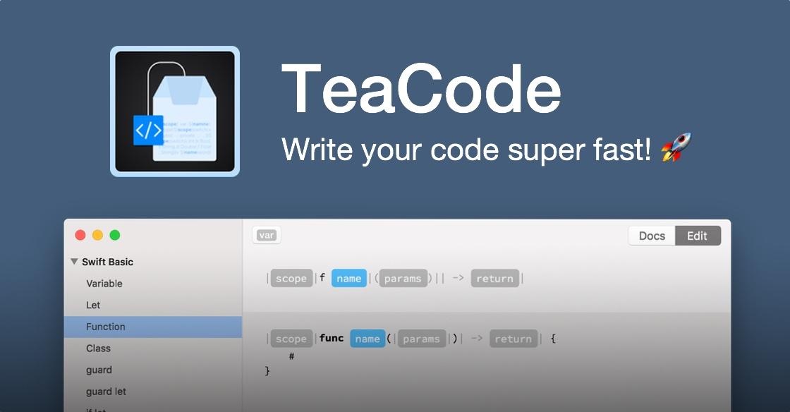 TeaCode – write code super fast!